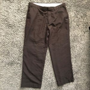 Perry Ellis Brown Checkered Pants 38/30